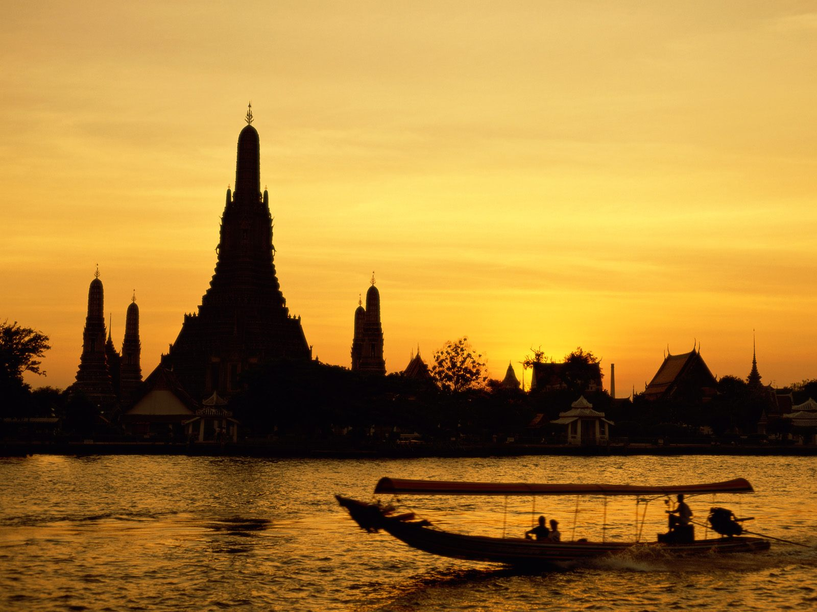 bangkok river sunset